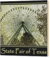 Texas Star Gold Poster Wood Print