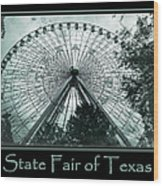 Texas Star Aqua Poster Wood Print