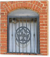 Texas Star Window Wood Print