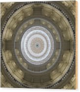 Texas State Capitol - Interior Dome Wood Print