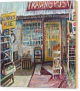 Texas Store Front Wood Print