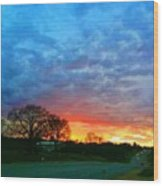 Texas Sunset  Wood Print