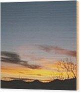 Texas Sunset Two Wood Print