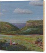 Texas Travelers Giclee Wood Print