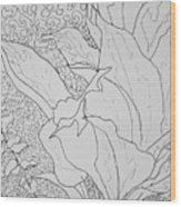 Texture And Foliage Wood Print