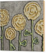 Texture Blooms In Sunshine Wood Print