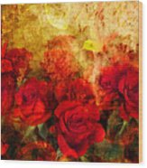 Texture Roses Wood Print