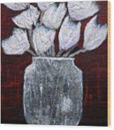 Textured Blooms Wood Print