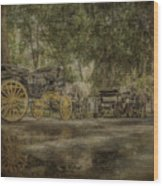 Textured Carriages Wood Print