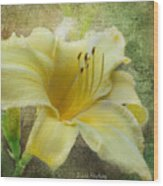 Textured Daylily Wood Print