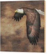 Textured Eagle 2 Wood Print