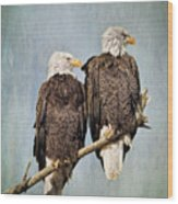 Textured Eagles Wood Print