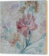 Textured Florals No.1 Wood Print