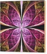 Textured Flower Wood Print