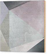 Textured Geometric Triangles Wood Print