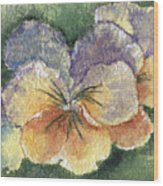 Textured Pansy Wood Print