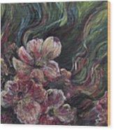 Textured Pink Petals Wood Print