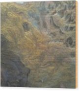 Textured Pour Wood Print by Sonya Wilson