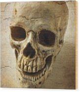Textured Skull Wood Print