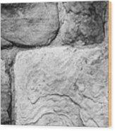 Textured Stone Wall Wood Print