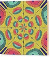 Textured Tropical Mandala Wood Print
