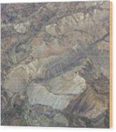 Textured Valleys Wood Print