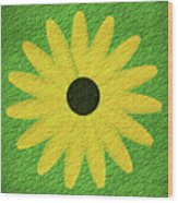 Textured Yellow Daisy Wood Print