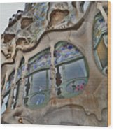 Textures. Gaudi. Modern Style. Wood Print