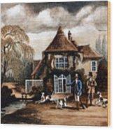 Th Hunting Lodge. Wood Print
