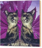 Tha 2piece Kitty Wood Print