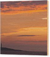 Thacher Island Lighthouse Panoramic Wood Print