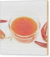 Thai Chili Sauce Wood Print