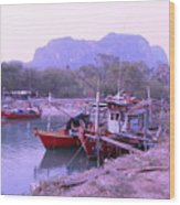 Thai Fishing Boats 05 Wood Print