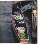 Thai Floating Village 1 Wood Print