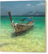 Thai Longboat  Wood Print