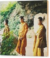 Thai Monks Wood Print
