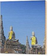 Thailand, Ayathaya Wood Print