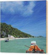 Thailand Boat Wood Print