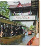 Thailand Floating Market Wood Print