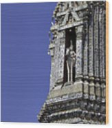 Thailand Temple Architecture Wood Print