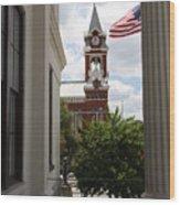 Thalian Hall Column Wood Print