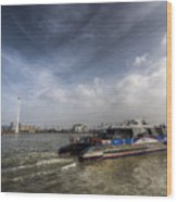 Thames Clipper And Cable Car Wood Print