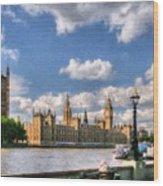 Thames River In London # 3 Wood Print