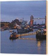 Thames Riverside Wood Print