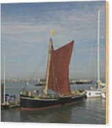 Thames Sailing Barge 'alice' Wood Print