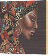 Thank You Angela Wood Print by Alga Washington