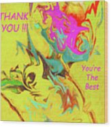 Thank You Card Abstract Lilac Breasted Roller Wood Print