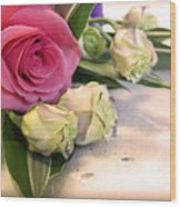 Thank You Rose Bouquet  Wood Print