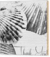 Thank You Seashell Wood Print