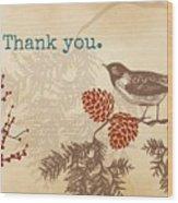 Thanks Wood Print